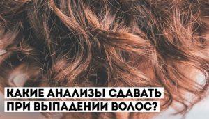 анализы при сильном выпадении волос